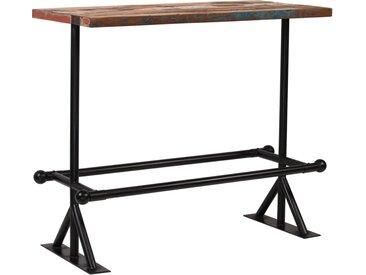 Table de bar Bois massif recyclé Multicolore 120 x 60 x 107 cm - vidaXL