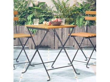 Table de bistro 55x54x71 cm Bois d'acacia massif - vidaXL