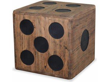 Boîte de rangement Bois Mindi 40 x 40 x 40 cm Design Dés - vidaXL