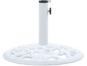Socle de parasol Blanc 12 kg 48 cm Fonte - vidaXL