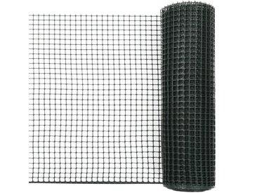 Maille de clôture de jardin PEHD 50x0,6 m Vert - vidaXL