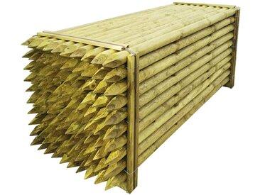 Poteaux pointus de clôture 100 pcs Bois imprégné 6x240 cm - vidaXL