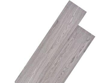 Planche de plancher PVC 5,26 m² 2 mm Gris foncé - vidaXL