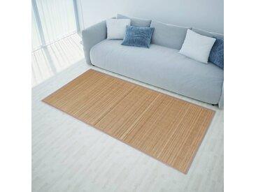 Tapis en bambou 100 x 160 cm Marron - vidaXL