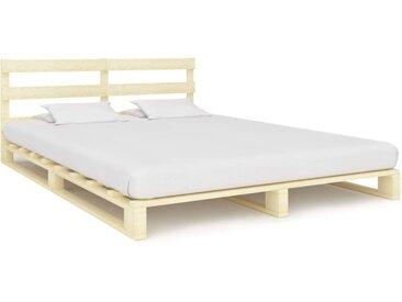 Cadre de lit de palette Bois de pin massif 200 x 200 cm - vidaXL