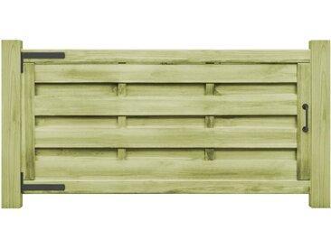 Portillons 2 pcs Bois de pin imprégné FSC 150x75 cm Vert - vidaXL