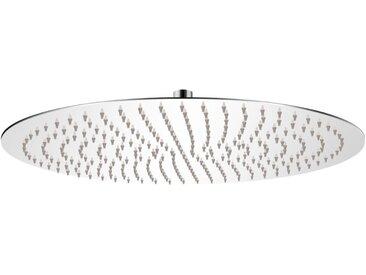 Tête de douche plongeante ronde en acier inoxydable 50 cm - vidaXL