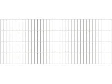 Panneaux de clôture de jardin 2D 2008x0,83 m 34 m total Argenté - vidaXL