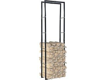 Portant de bois de chauffage Noir 60x25x200 cm Acier - vidaXL