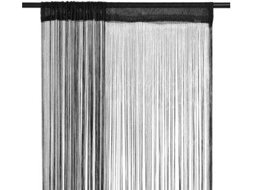 Rideau en fils 2 pcs 140 x 250 cm Noir - vidaXL