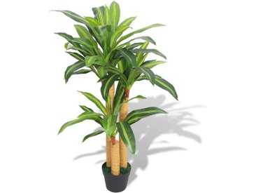 Plante artificielle avec pot Dracaena 100 cm Vert - vidaXL