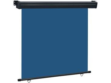 Auvent latéral de balcon 160x250 cm Bleu - vidaXL