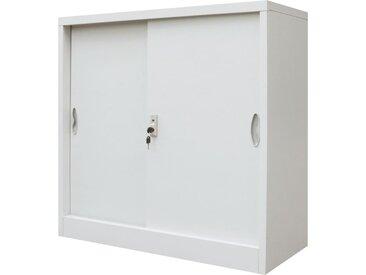 Armoire de bureau avec porte coulissante Métal 90x40x90 cm Gris - vidaXL