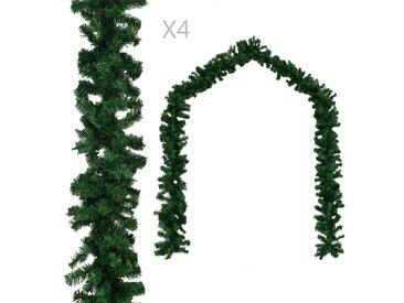 Guirlandes de Noël 4 pcs Vert 270 cm PVC - vidaXL