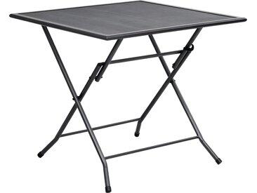Table pliable en maille 80x80x72 cm Acier Anthracite - vidaXL