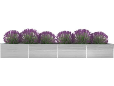Lit surélevé de jardin Acier galvanisé 600x80x77 cm Gris - vidaXL