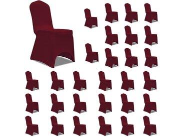 Housses élastiques de chaise Bordeaux 30 pcs - vidaXL