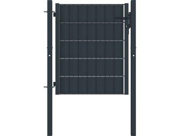 Portail de clôture Acier 100x101 cm Anthracite    - vidaXL