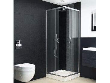 Cabine de douche avec bac Verre de sécurité 80x80x185 cm - vidaXL