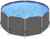Piscine avec cadre en acier 367x122 cm Anthracite - vidaXL