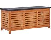 Boîte de rangement de jardin 117x50x55 cm Eucalyptus solide - vidaXL