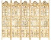 Cloison de séparation 5 panneaux 200x165 cm Bois de manguier - vidaXL