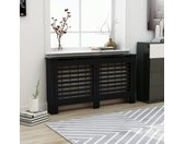 Cache-radiateur Noir 152x19x81 cm MDF - vidaXL