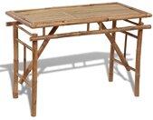 Table pliable de jardin 120x50x77 cm Bambou  - vidaXL