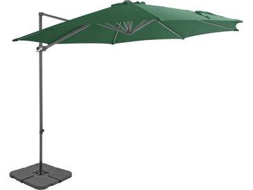 Parasol avec base portable Vert - vidaXL