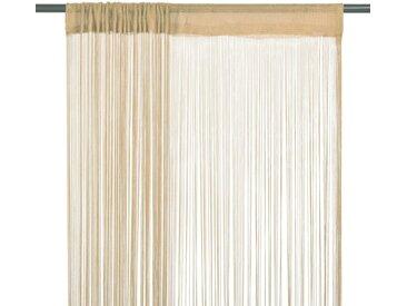 Rideau en fils 2 pcs 140 x 250 cm Beige - vidaXL