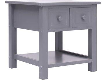 Table d'appoint Gris 40x40x40 cm Bois de Paulownia - vidaXL