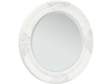 Miroir mural style baroque 50 cm Blanc - vidaXL