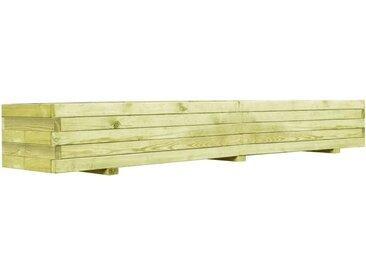 Jardinière surélevée de légumes Bois de pin imprégné 200 cm - vidaXL