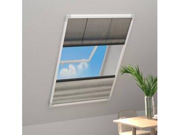 Moustiquaire plissée pour fenêtre Aluminium 100x160cm et auvent - vidaXL