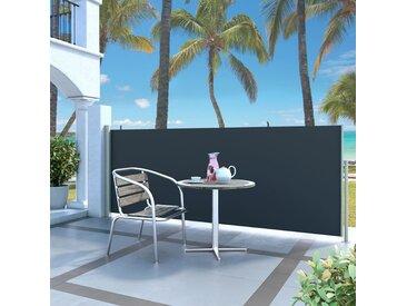 Auvent latéral rétractable 120 x 300 cm Noir - vidaXL