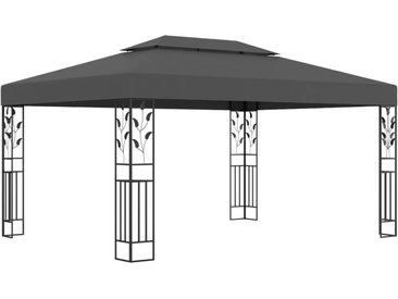 Tonnelle avec double toit 3x4 m Anthracite - vidaXL