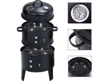 Gril barbecue au charbon 3 en 1 40x80 cm - vidaXL
