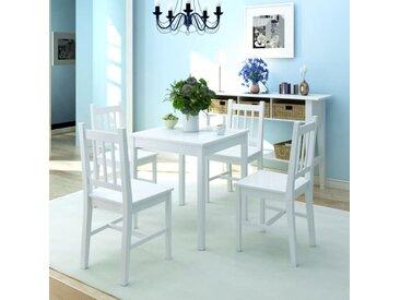 Ensemble de salle à manger 5 pièces Pinède Blanc - vidaXL