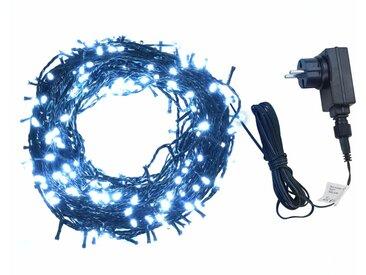 Guirlande lumineuse 400 LED Intérieur et extérieur 40 m Blanc   - vidaXL
