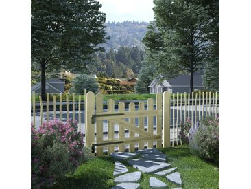Portail de jardin Pin imprégné FSC 100 x 80 cm - vidaXL
