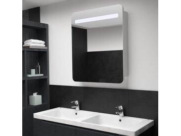 Armoire de salle de bain à miroir LED 68x9x80 cm - vidaXL