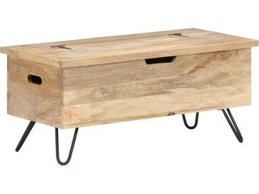 Coffre 90x40x45 cm Bois solide de manguier - vidaXL