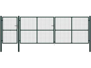 Portail de jardin Acier 500 x 150 cm Vert - vidaXL