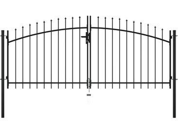Double portail avec haut sous forme de lance 300 x 150 cm - vidaXL