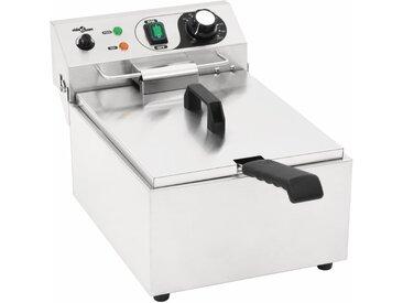 Friteuse électrique Acier inoxydable 10 L 3000 W - vidaXL