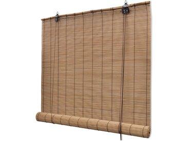 Store roulant en bambou 150 x 160 cm Marron - vidaXL