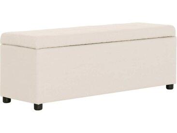 Banc avec compartiment de rangement 116 cm Crème Polyester - vidaXL
