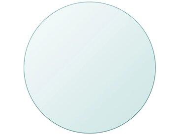Dessus de table ronde en verre trempé 700 mm - vidaXL