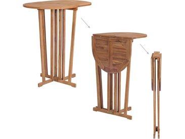 Table pliable de bar 100x65x105 cm Bois de teck solide - vidaXL