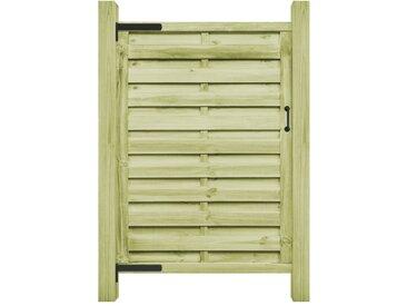 Portillon Bois de pin imprégné FSC 100 x 175 cm Vert - vidaXL